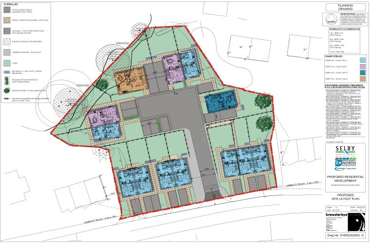Planning permission for new affordable housing development in Selby