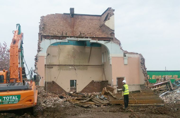 Demolition underway at Hesketh Bank
