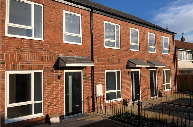 Works are now complete for a new residential development in Selby