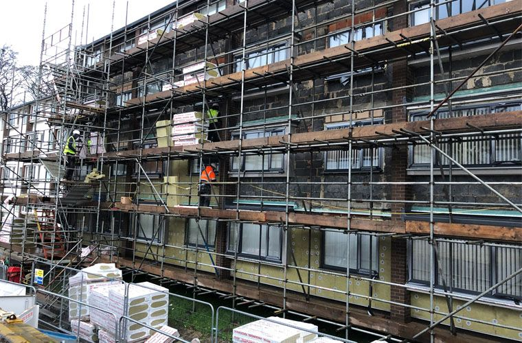 Major refurbishment programme is underway at Halifax apartment development
