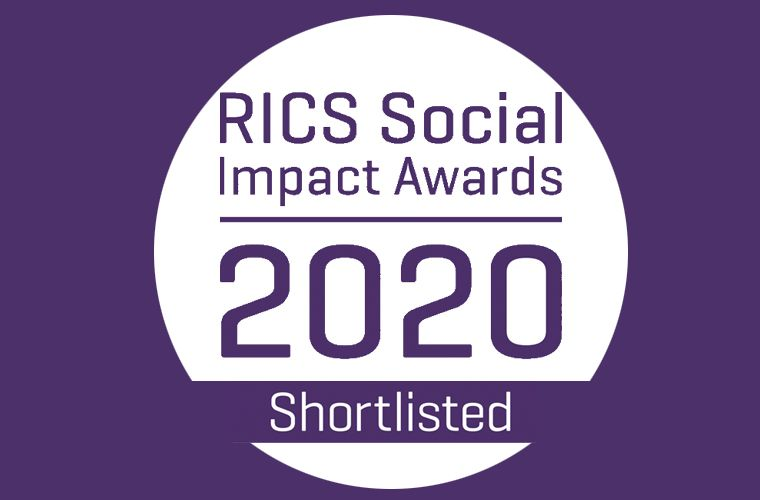 We have been shortlisted for two RICS Social Impact Awards 2020!