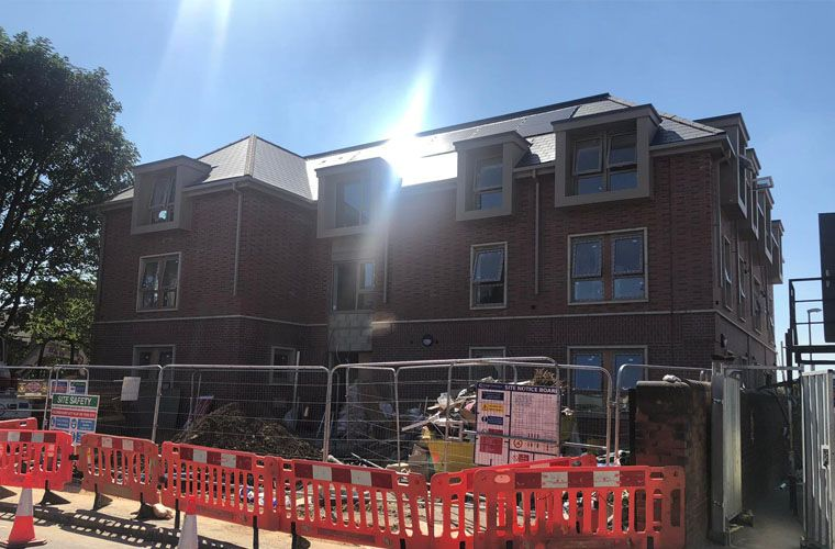 Works nearing completion on new residential development in Leeds