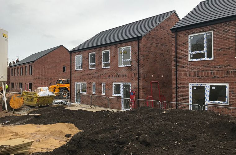 Works are progressing well on new affordable homes development in Selby